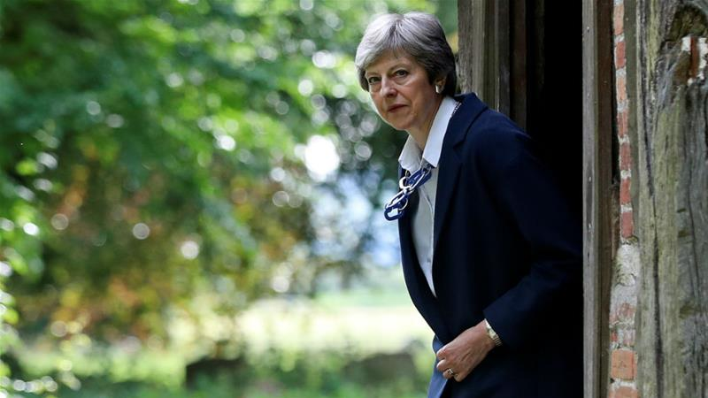 On the way out: Theresa May failed to win support for a Brexit deal [File: Simon Dawson/Reuters]