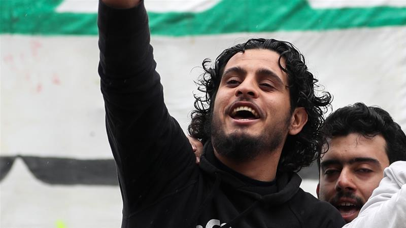 Abdel-Basset al-Sarout starred in an award-winning documentary [File: Omar Haj Kadour/AFP]