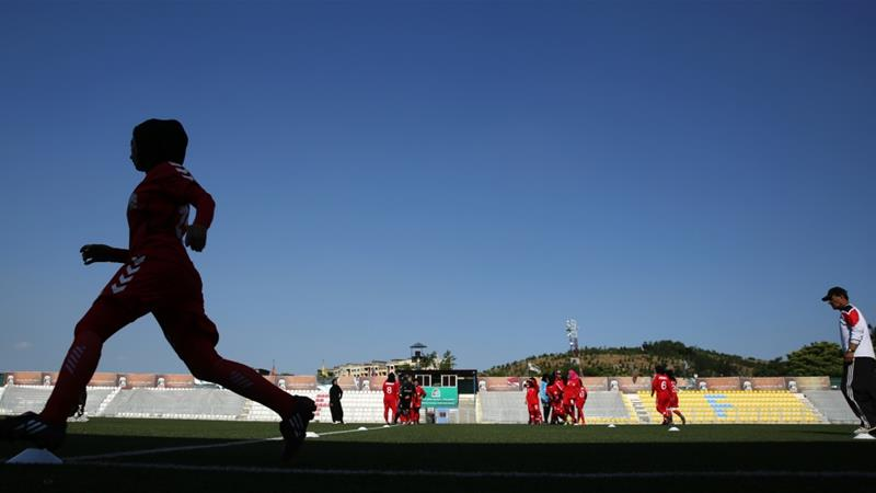 Many parents, alarmed by allegations made by female players, urged their daughters to give up football [Massoud Hossaini/AP]