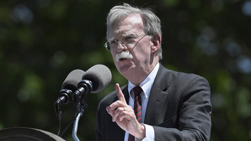 John Bolton, the United States national security adviser, made it clear that Washington disapproved of a pending deal for China to acquire Ukrainian aircraft engine maker Motor Sich [Jessica Hill/ AP Photo]