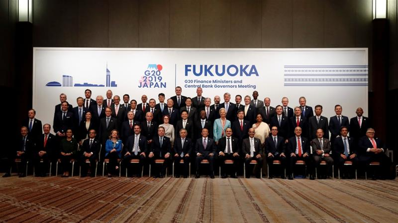 G20 finance leaders meeting in Fukuoka in Japan agreed that trade tensions pose a risk to the global economy [June 9: Kim Kyung-Hoon/Reuters]