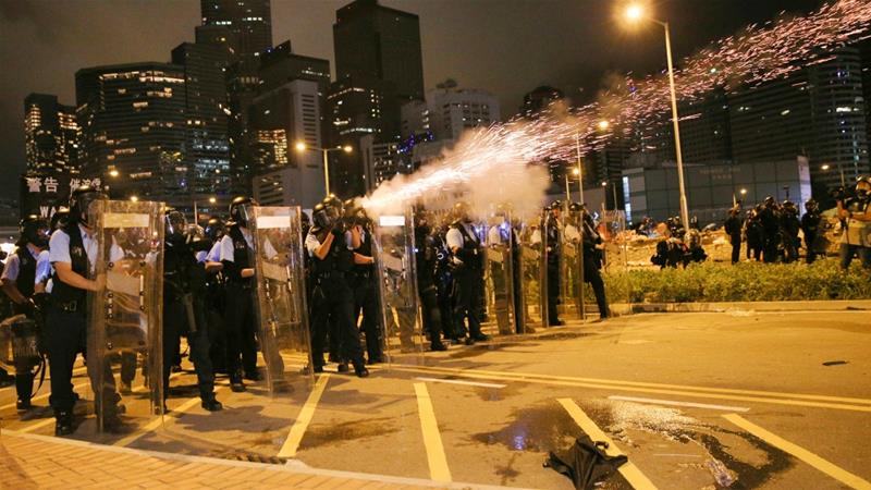 China station next target for Hong Kong protesters