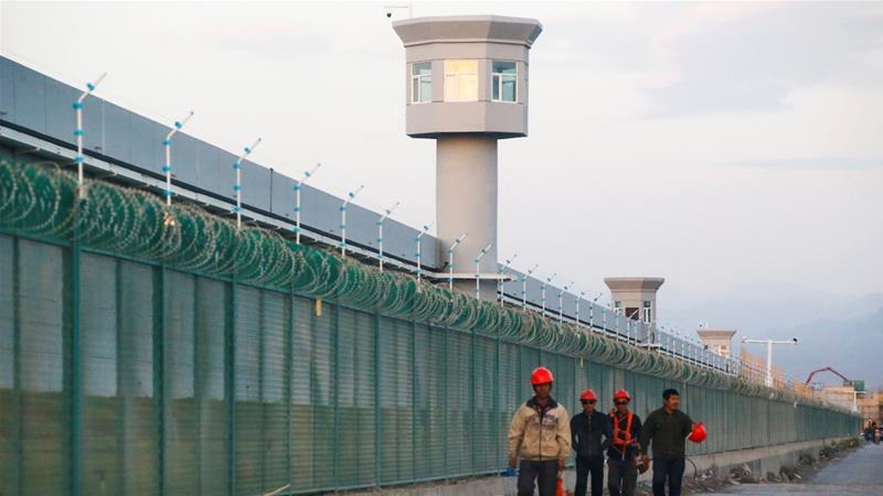 The UN says at least one million Uighurs have been detained in what China calls vocational skills education centres. This one is in Dabancheng and was still under construction at the time the photo was taken on September 4, 2018. [Thomas Peter/Reuters]