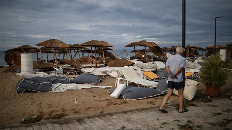Six tourists killed as severe weather hits northern Greece