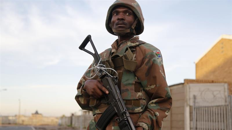 South Africa's army was last deployed to tackle Cape Town's gangs in 2017 [File: Schalk van Zuydam/AP]