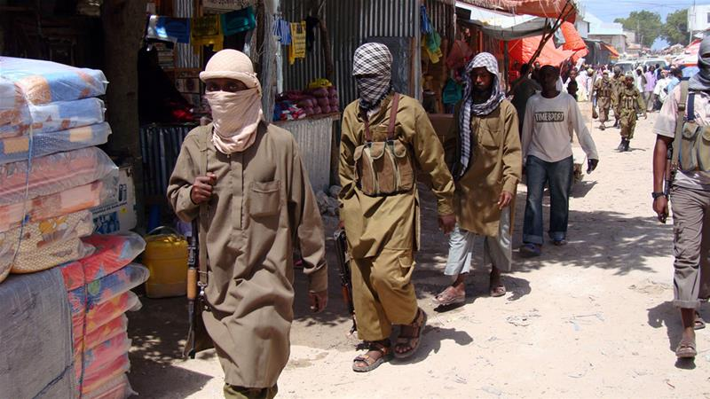 Al-Shabab fighters once controlled major cities in Somalia but were driven out [Mohamed Sheikh Nor/AP]