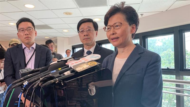 Hong Kong leader Lam condemns 'rioters' after violent clashes