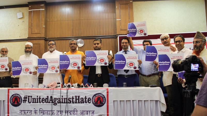 Activists hope the launch of a helpline will help victims of hate crimes to access legal recourse [Bilal Kuchay/Al Jazeera]