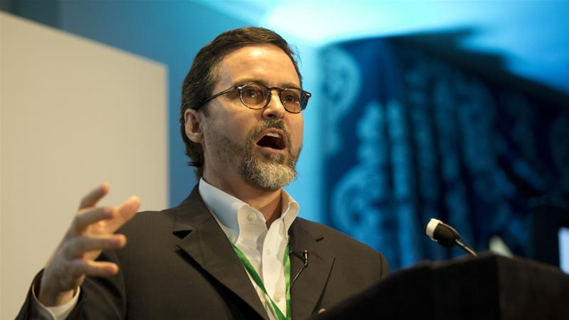 Prominent Muslim American scholar Hamza Yusuf agreed to be part of a 10-member panel that would examine the role of human rights in US  policy [File: AP]