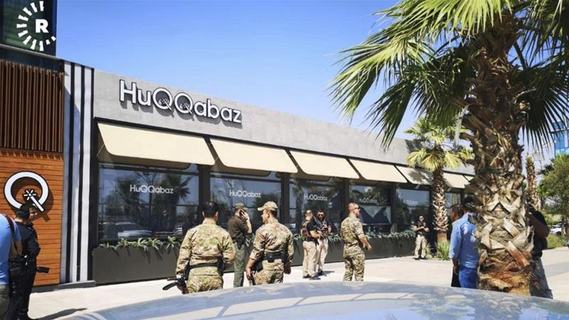The attackers escaped from the restaurant through the back door and security forces were searching for them [AP]