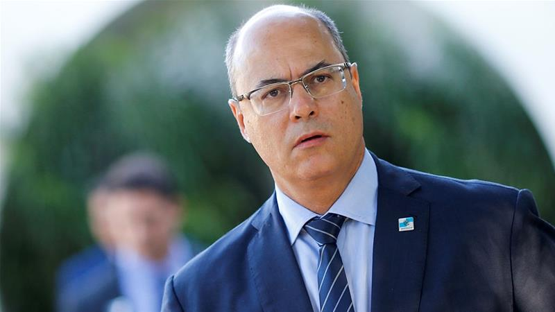 Rio de Janeiro Governor Wilson Witzel is seen after a meeting with Brazil's President Jair Bolsonaro [File: Adriano Machado/Reuters]