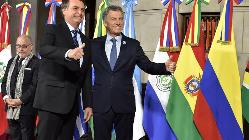A deal in June between the European Union and Mercosur - a South American trading bloc that includes Brazil, Argentina, Paraguay and Uruguay - has been hailed as a breakthrough on international free trade for both regions [Handout/Reuters]