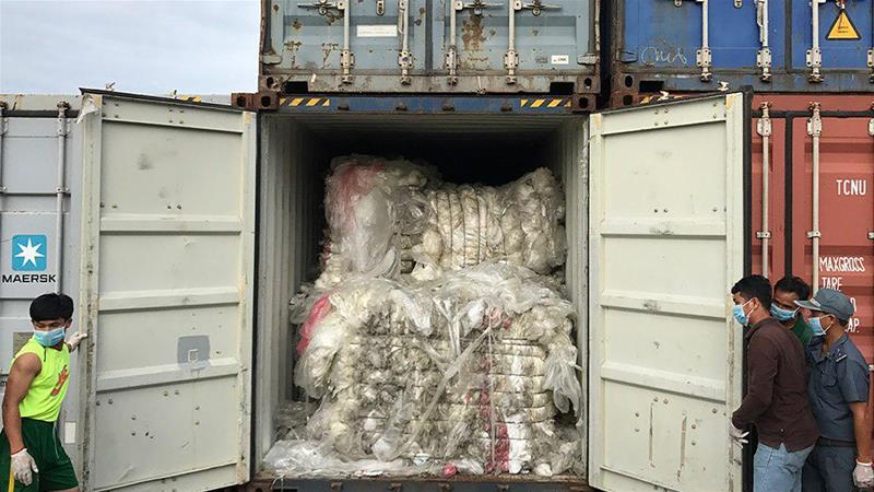 Cambodia Rejects 1600 Tons of Plastic Waste From US, Canada
