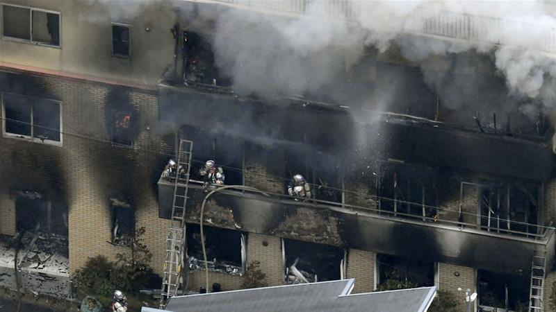 Japan fire: Suspected arson attack on animation studio leaves many dead, injured