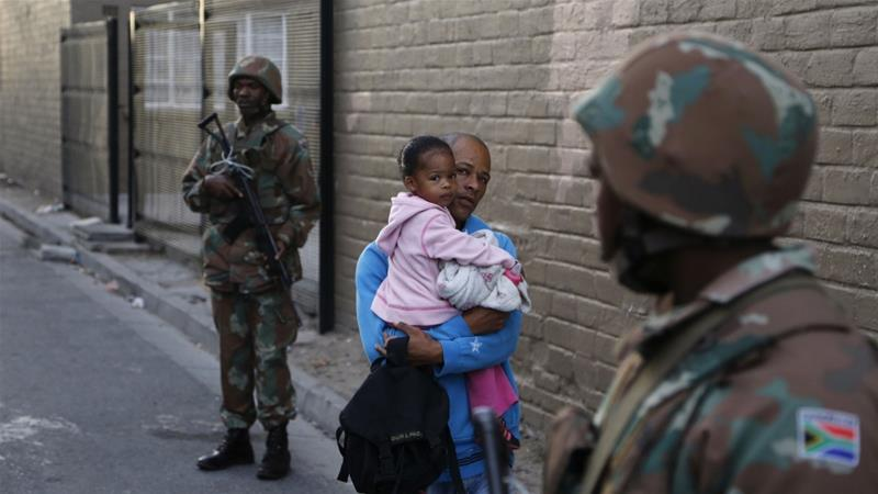 The South African army was last deployed to tackle Cape Town's gangs in 2017 [File: Schalk van Zuydam/AP]