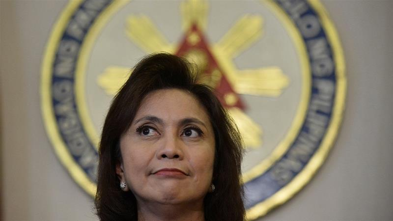 Philippines vice president, a vocal critic of President Duterte, is one of 36 people facing complaints of sedition [File: Ezra Acayan/Reuters]