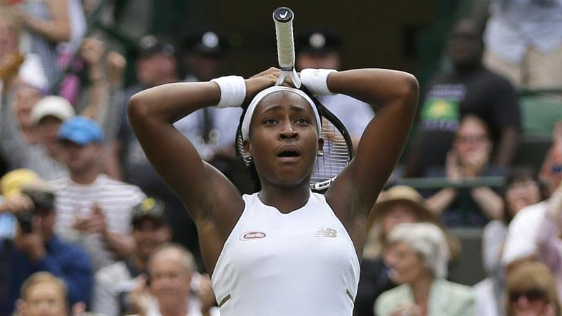 Gauff completed a science test during the qualifying tournament [Tim Ireland/AP]