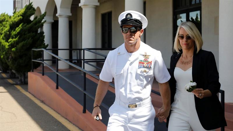 The Navy notified Gallagher he will face a review early next month to determine if he should remain on the elite force [File: John Gastaldo/Reuters]