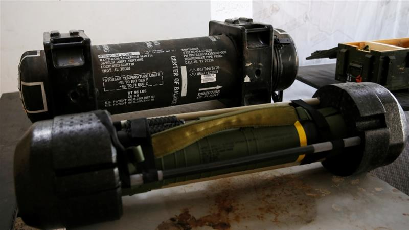 US-made Javelin anti-tank missiles were confiscated from eastern forces led by Khalifa Haftar in Gharyan last month [File: Ismail Zitouny/Reuters]