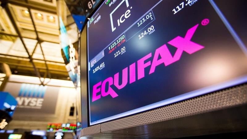 Data breaches at US credit reporting company Equifax in 2017 affected nearly 150 million people worldwide, equivalent to about half the size of the US population [File: Michael Nagle/Bloomberg]-