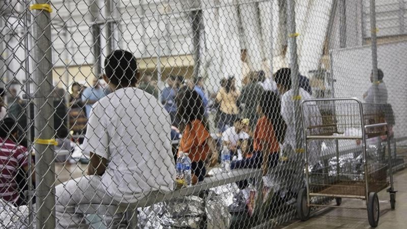 The Trump administration has faced criticism for separating families seeking asylum in the US and keeping children in detention centres [File: US Customs and Border Protection via AP]