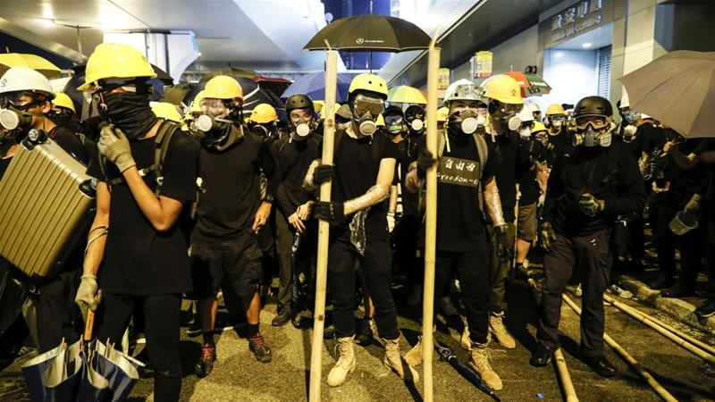 Mayhem in Hong Kong as police fire tear gas, rubber bullets
