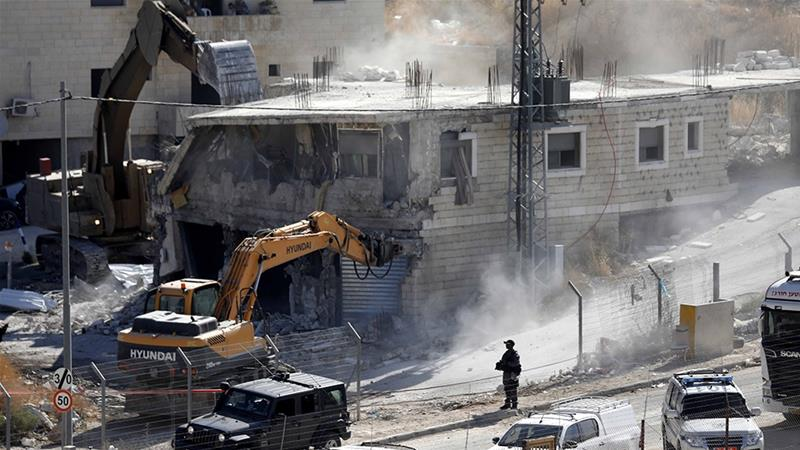 Israel demolishes Palestinian homes near separation wall