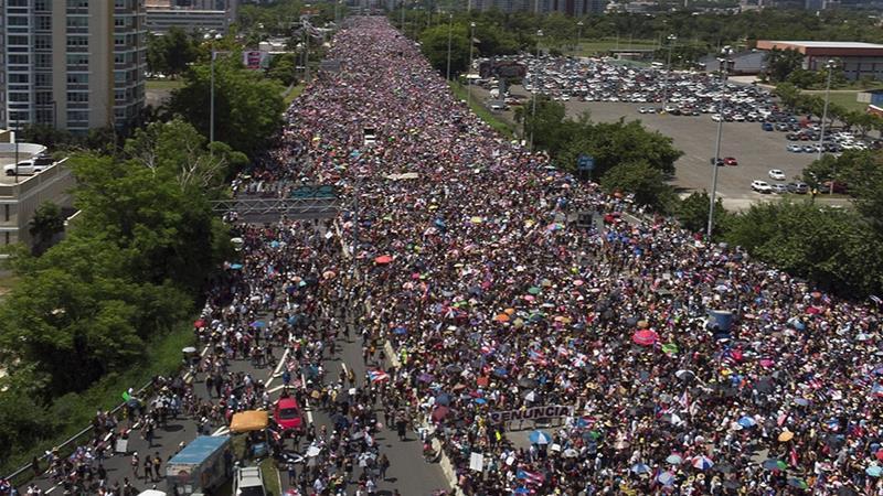 Hundreds Of Thousands Demand Puerto Rico S Governor Resign Usa