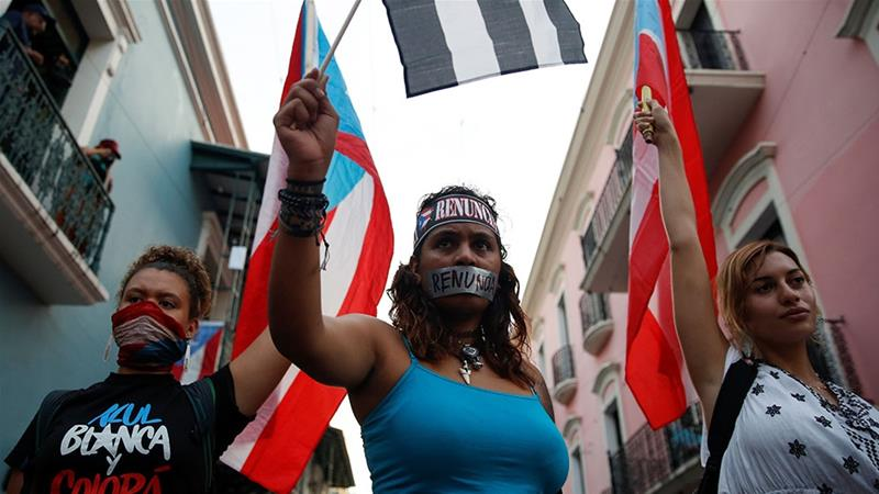 Puerto Rico Thousands Gather For Mass Protest Against Governor