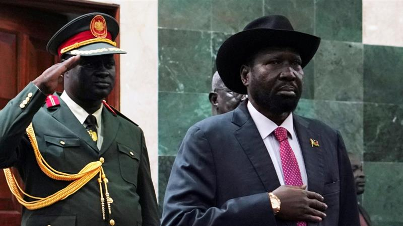 President Salva Kiir entered South Sudan's top office in 2011 after Juba gained independence from Khartoum following years of conflict [File: Andreea Campeanu/Reuters]