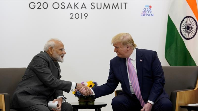 Trump's comments risked further straining political ties with India, which are already under pressure over trade [File: Kevin Lamarque/Reuters]