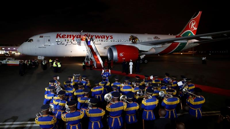 The transport committee in Kenya's parliament wants to place ownership of Kenya Airways and the Jomo Kenyatta International Airport in Nairobi with the same aviation holding company [Baz Ratner/Reuters]