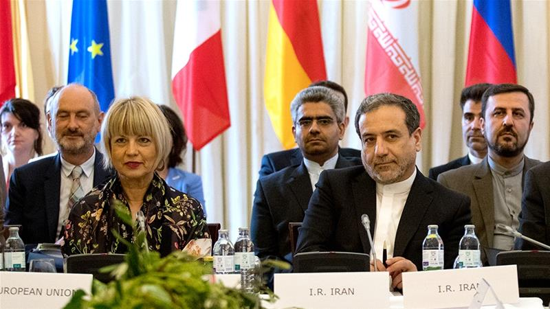 At crisis talks, Iran links tanker row to nuclear deal