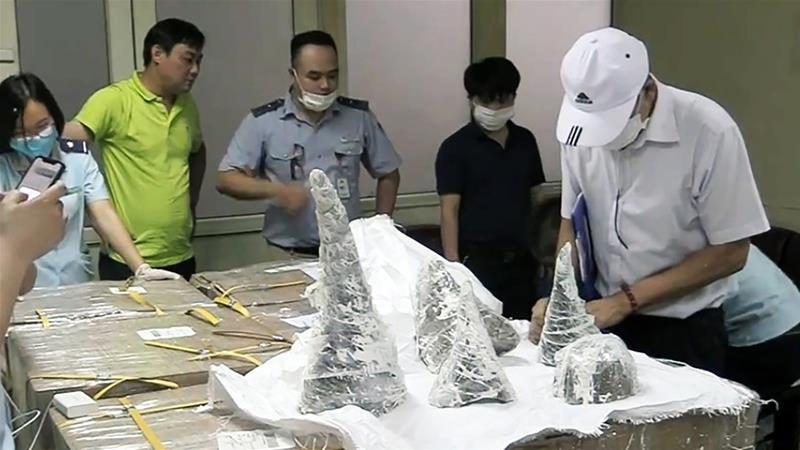 Vietnam seizes 125-kg of rhino horn hidden in plaster