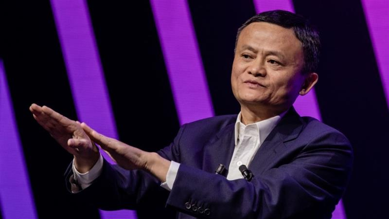 Starting from a shared apartment in Hangzhou city in eastern China 20 years ago, former teacher Jack Ma grew Alibaba into Asia's biggest listed company [File: Marlene Awaad/Bloomberg]