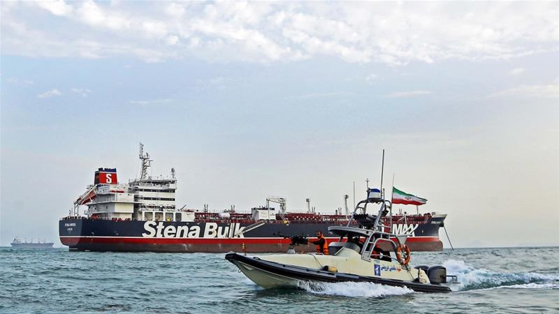 Iranian officials say the seizure of a British oil tanker was justified because of the UK's role in impounding an Iranian supertanker two weeks earlier [Hasan Shirvani/Mizan News Agency via AP]