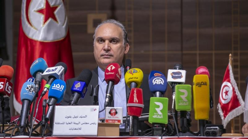 Nabil Baffoun, head of Tunisia's electoral authority, says nominees must submit their candidacy between August 2 and 9 [Yassine Gaidi/Anadolu]