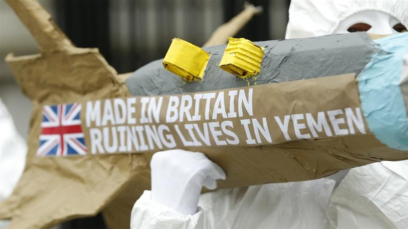The official report comes amid mounting controversy over Britain's arms sales to Saudi-led forces in Yemen [AP]