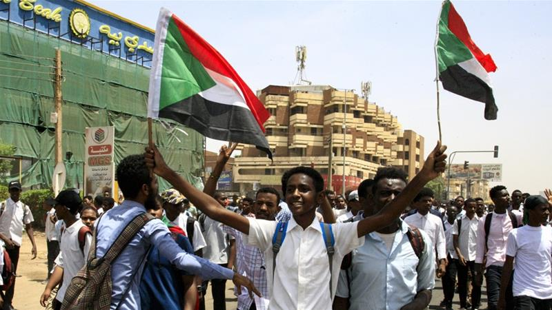Students took to the streets of Khartoum a day after the children were shot [File: Ebrahim Hamid/AFP]