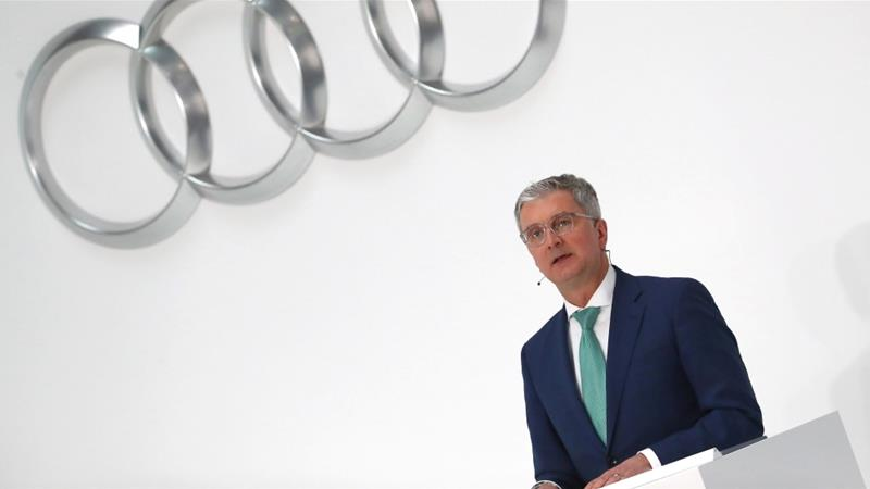 Volkswagen, which has faced billions of dollars in costs relating to the scandal, terminated Audi chief Stadler's contract in October over a criminal investigation into his role in emissions tests cheating [File: Siphiwe Sibeko/Reuters]