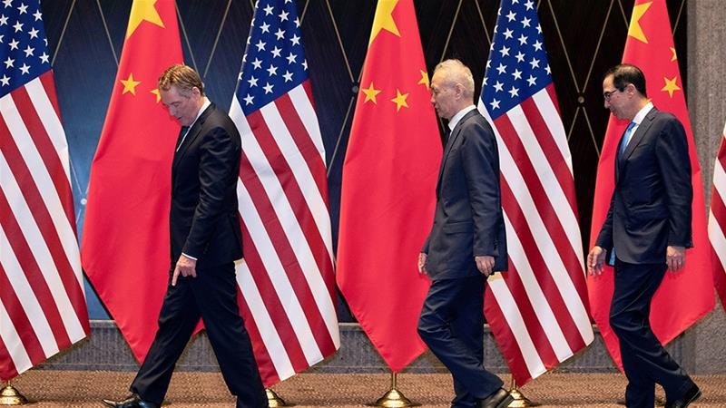 With no definite signs of progress on trade, US Treasury Secretary Steven Mnuchin and US Trade Representative Robert Lighthizer will meet their Chinese counterparts in September to resume talks [Ng Han Guan//Reuters]