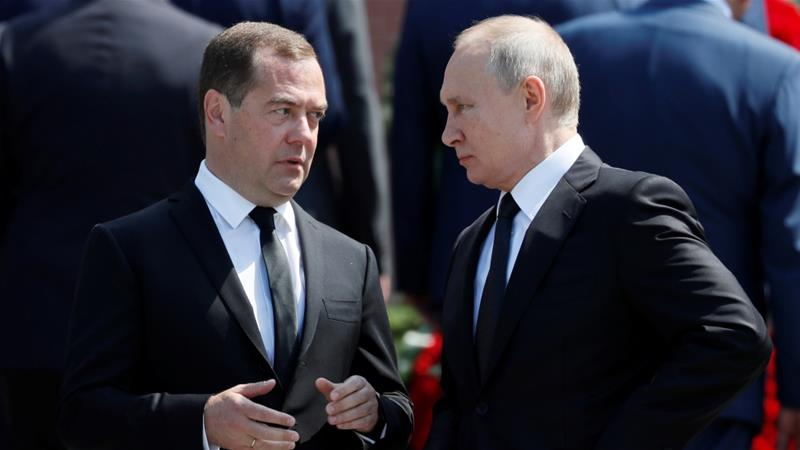 The approval rating of Russian President Vladimir Putin has slumped to 66 percent and that of Prime Minister Dmitry Medvedev to 36 percent  [File: Reuters/Evgenia Novozhenina]