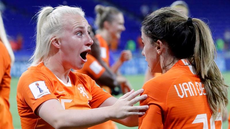 It is the first time the Dutch women's side has reached a World Cup final [Bernadett Szabo/Reuters]
