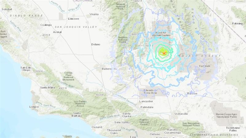 Californians jolted by strong aftershock following biggest quake