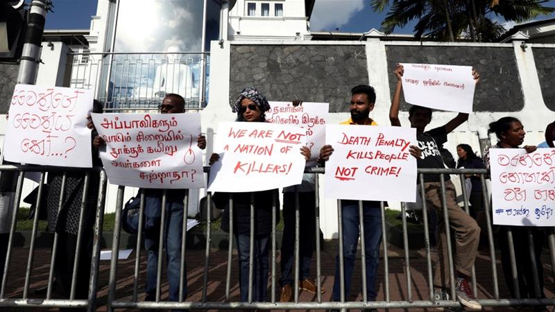 Human rights groups and several governments have raised concerns about the restoration of capital punishment in Sri Lanka, where no prisoners have been executed since 1976 [File: Dinuka Liyanawatte/Reuters]
