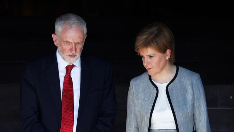 Between them, Jeremy Corbyn and Nicola Sturgeon agree on a wide range of progressive policies, writes Maxwell [Reuters].