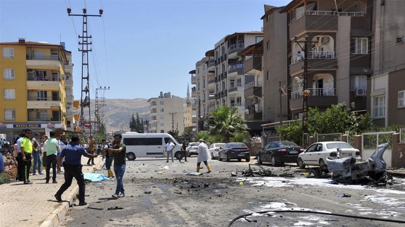 Vehicle bombing in southern Turkey kills three Syrians