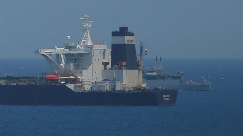 Oil supertanker Grace 1 is suspected of carrying Iranian crude oil to Syria [Jon Nazca/Reuters]