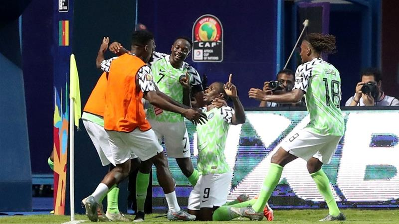 The win earned Nigeria a quarter-final slot against hosts Egypt or South Africa who were meeting later on Saturday [Suhaib Salem/Reuters]