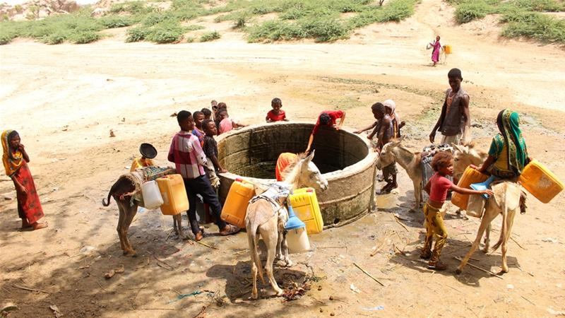 Years of conflict has damaged Yemen's infrastructure, contributing to the spread of waterborne disease [File: Eissa Alragehi/Reuters]